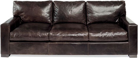 restoration hardware maxwell leather sofa gearculture