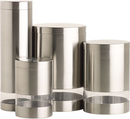 Stainless/Acrylic Canisters