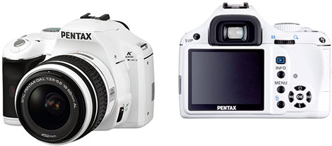 White Edition Pentax K2000 10.2MP Digital SLR Camera
