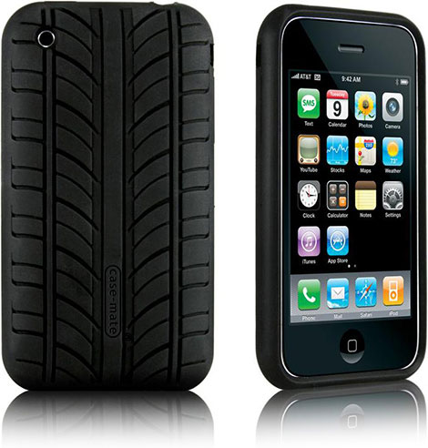 Vroom Tire Tread iPhone 3G Case
