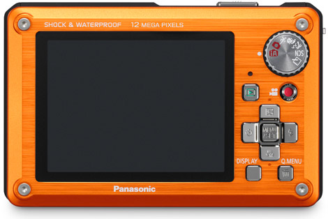 Panasonic Lumix DMC-TS1 Rugged Camera Display