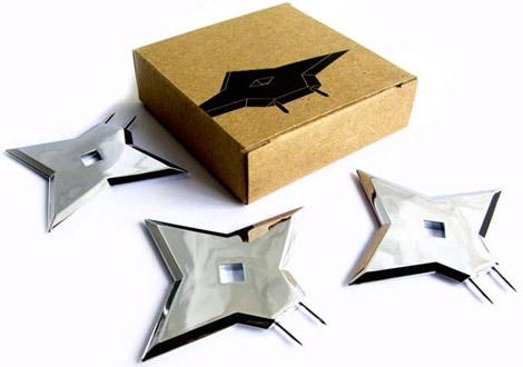 Ninja Tacks Shiruken-shaped Tacks