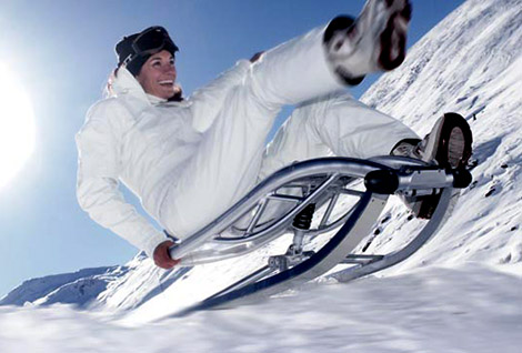 Alurunner Sports Sled in Action
