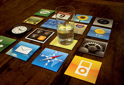 iPhone Coaster Set by Meninos