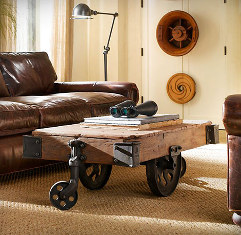 Restoration Hardware Furniture Factory Cart GearCulture