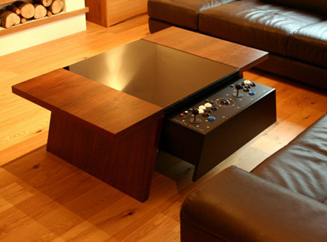Surface Tension Contemporary Arcade Coffee Tables