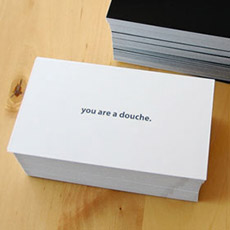 The Douche Card