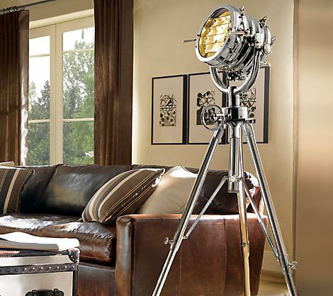 restoration hardware royal master sealight floor lamp | gearculture