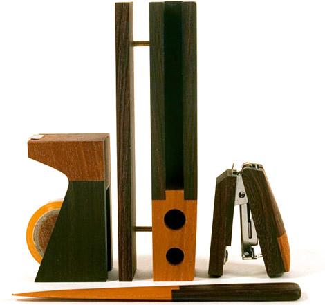 Singgih Kartono Natural Wood Desk Set