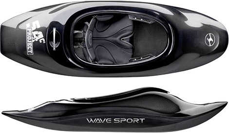 Carbon Kevlar and Carbon Fiber Kayak by Wave Sport