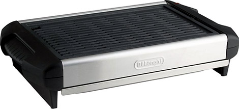DeLonghi Healthy Indoor Grill with Cast Iron Grill Plate