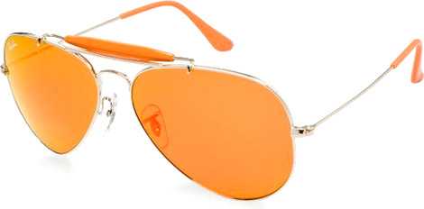 Orange Outdoorsman Aviator Sunglasses by Ray-Ban