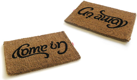 Come In And Go Away Reversible Doormat No One Buy This