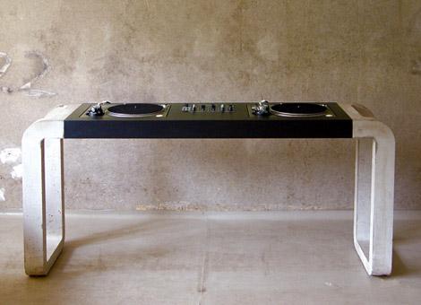 MetroFarm DJ Desk with Concrete Stand