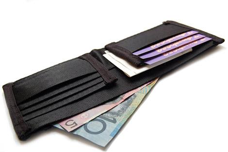 Interrobang Seat Belt Wallet