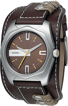 Fossil Analog Brown Dial