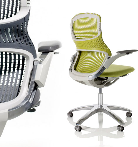 Designed for regular, sideway or backwards seating, the Knoll Generation ...