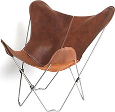 Urban Outfitters Leather Butterfly Chair