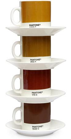 Pantone Espresso Cup & Saucer Set