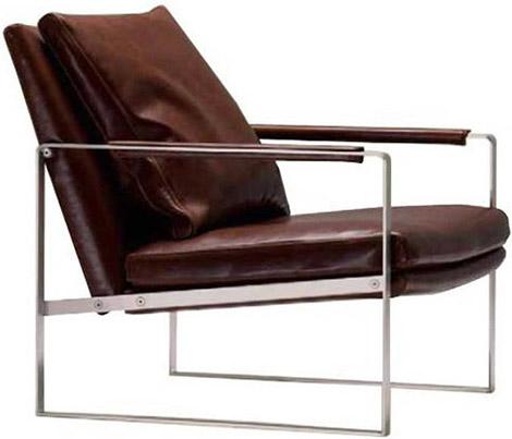 Nice Leman Stainless Steel Lounge Chair