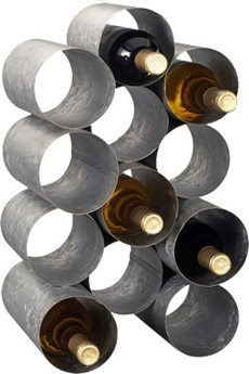 Galvanized 12 Bottle Wine Rack