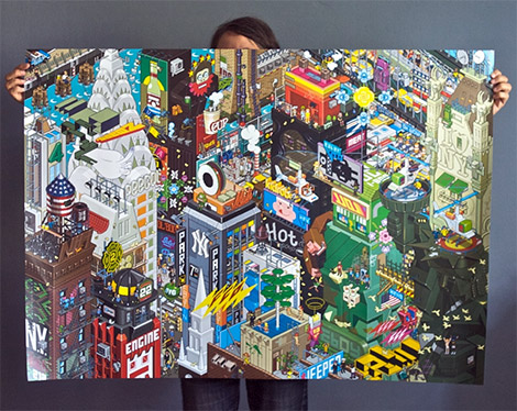 eBoy New York Poster