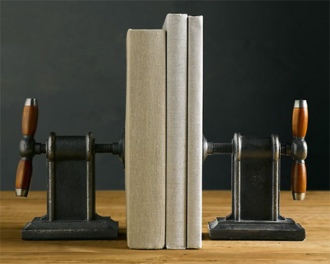 Restoration Hardware Vise Bookends