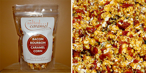 Salted Caramel Bacon Bourbon Caramel Corn