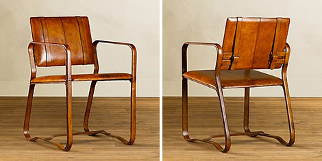 Restoration Hardware Leather Buckle Chair