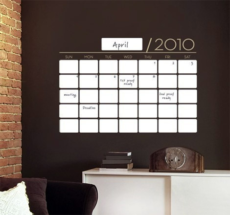 Unique Dry Erase Calendar