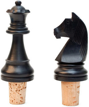 Chess Bottle Stop Set