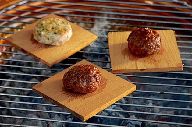 Red Oak Burger Grilling Planks
