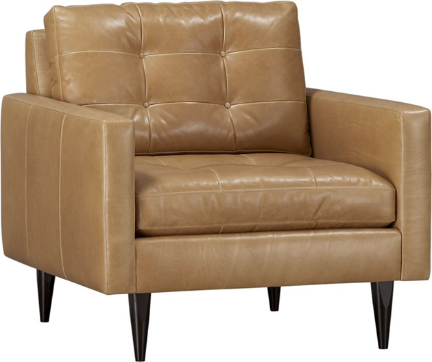 Crate & Barrel Petrie Leather Chair
