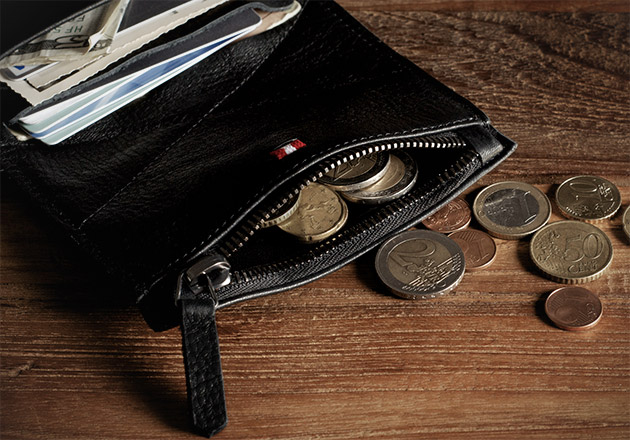 Hard Graft Nero Zip Wallet