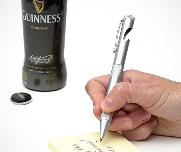 Business and Pleasure Bottle Opener Pen