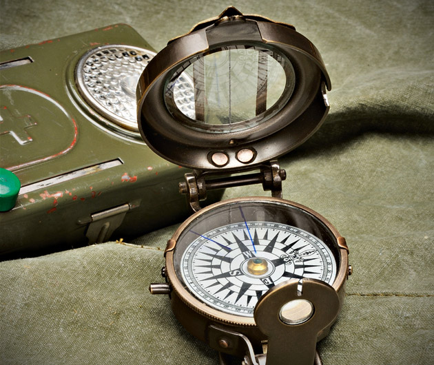 Military Lensatic-Style Compass