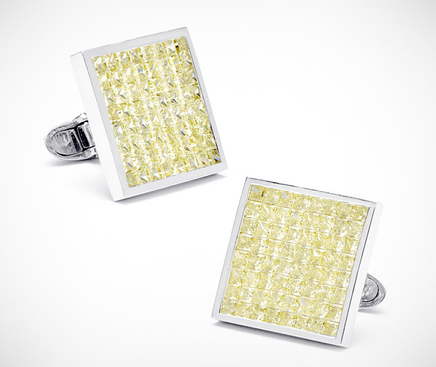 Jacob & Co. Canary Diamond Square Cufflinks
