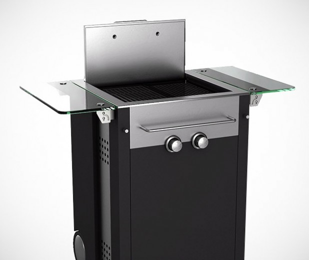 ecoque hotbox two burner mini propane gas grill gearculture. Black Bedroom Furniture Sets. Home Design Ideas