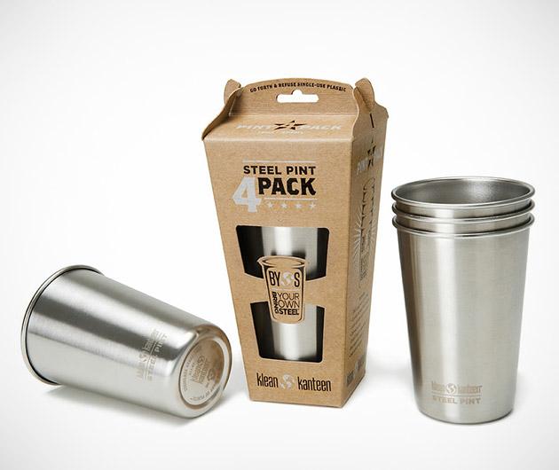 Klean Kanteen Stainless Steel Pint Cups