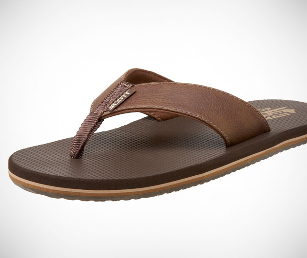 Scott Hawaii Koa Flip Flop