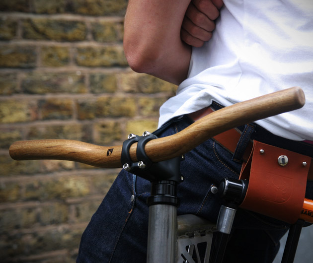 Thick Oak Wood Handlebars