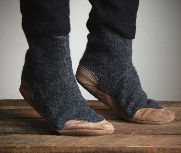 Wool Sweater Slippers