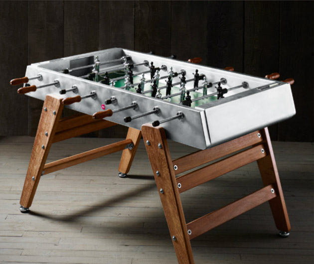 Electropolished Steel Foosball Table