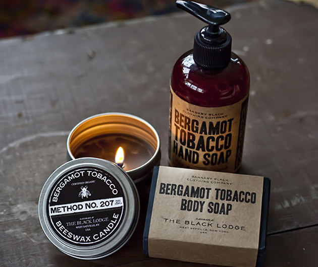 Barnaby Black Soaps and Candles