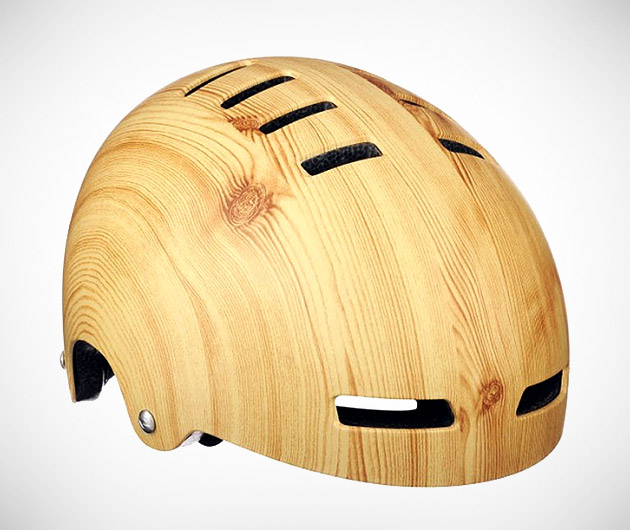 Mission Bicycle Woodgrain Helmet