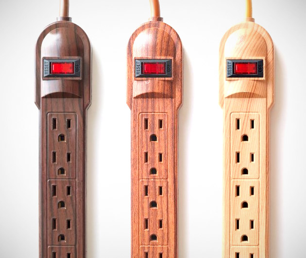 Invisiplug Wood Grain Power Strips