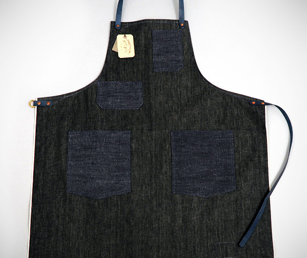 Black Selvedge Denim Apron