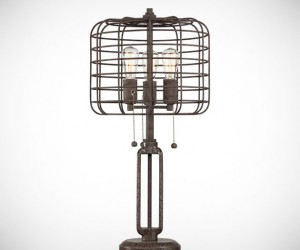 Industrial Cage Table Lamp