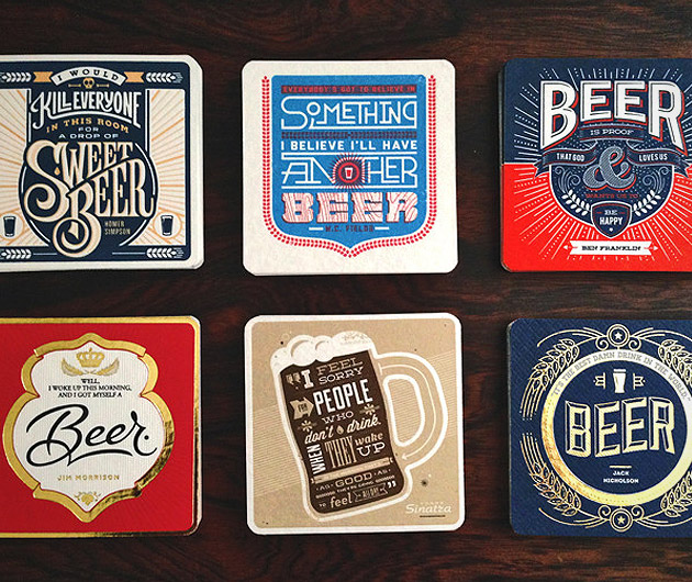 Beer Press Coasters
