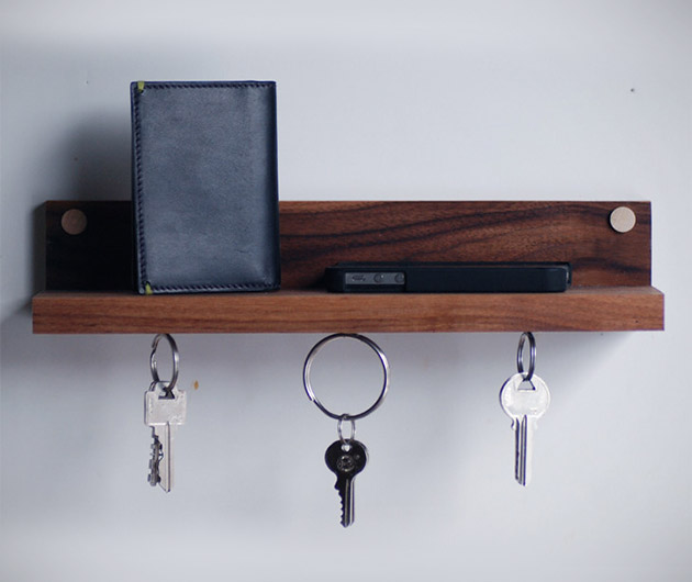Meriwether Magnetic Key Ring Holder & Shelf